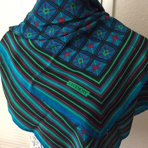 GIVENCHY Vintage Silk Scarf